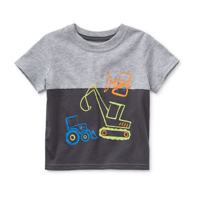 Okie Dokie Baby Boys Crew Neck Short Sleeve Graphic T-Shirt