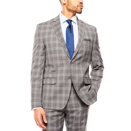 Collection by Michael Strahan Gray Glen Plaid Suit Separates-Classic Fit
