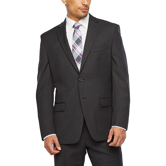 Collection by Michael Strahan Windowpane Classic Fit Stretch Suit Separates