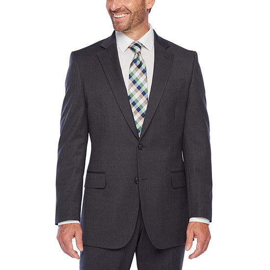Stafford Super Suit Classic Fit Gray Texture Suit Separates