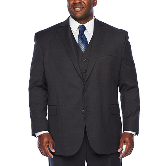 Stafford Super Suit Charcoal Check Big and Tall Fit Suit Separates