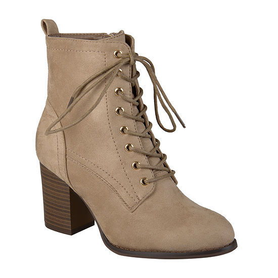 Journee Collection Womens Stacked Heel Baylor Booties