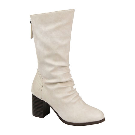 70s Shoes, Platforms, Boots, Heels | 1970s Shoes Journee Collection Womens Sequoia Slouch Boots Stacked Heel 11 Medium Gray $79.99 AT vintagedancer.com