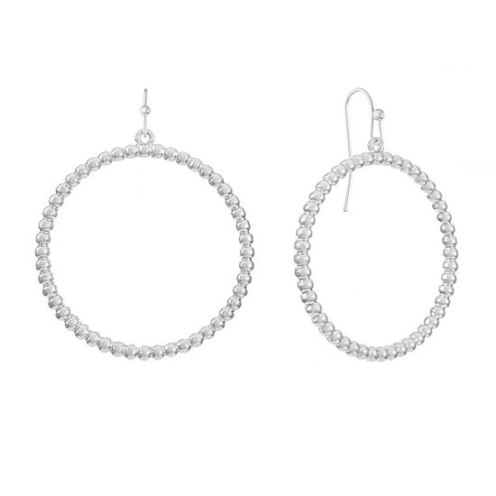 Liz Claiborne Round Hoop Earrings