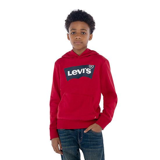 Levi's Fleece Batwing Logo Big Boys Hoodie