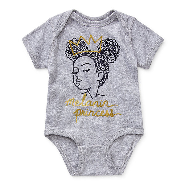 Black History Month Baby Girls Crew Neck Short Sleeve Bodysuit