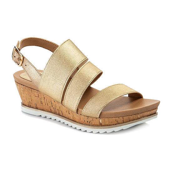 Andrew Geller Gessica Womens Wedge Sandals
