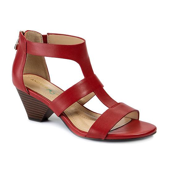 Andrew Geller Womens Dagny Heeled Sandals