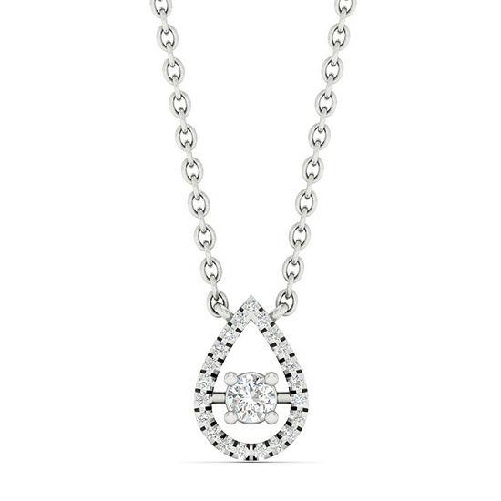Womens 1/10 CT. T.W. Genuine Diamond 10K White Gold Pendant