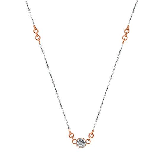 Womens 1/4 CT. T.W. Genuine Diamond 10K Two Tone Gold Pendant