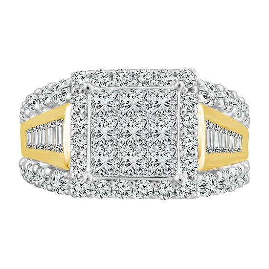 Womens 2 CT. T.W. Genuine Diamond 10K Gold Promise Ring