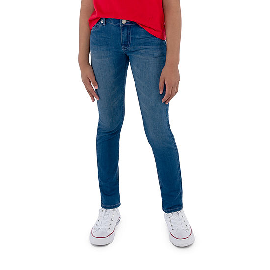 Levi's Big Girls Mid Rise 711 Ripped Stretch Skinny Fit Jean