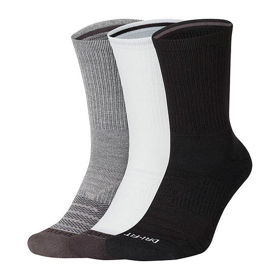Nike Everyday Max Graphic 3 Pair Crew Socks-Mens