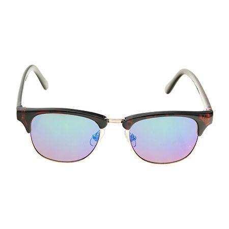 Arizona Mens Full Frame Square Sunglasses, One Size , Blue