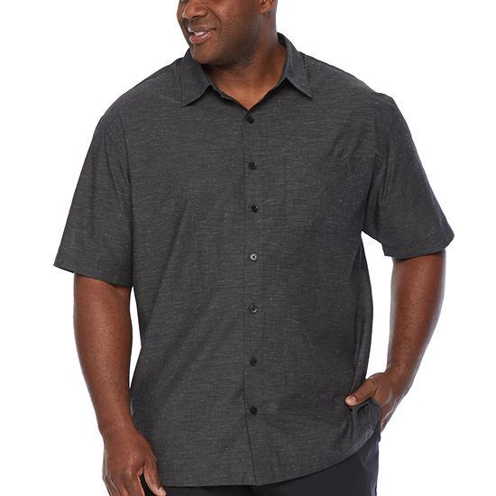 Van Heusen Mens Short Sleeve Button-Down Shirt - Big and Tall