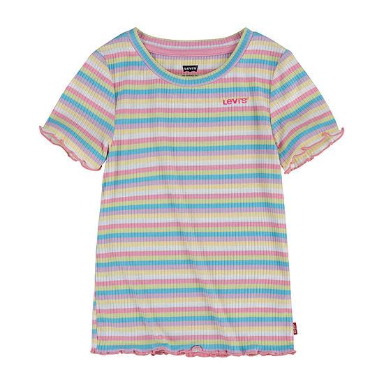 Levi's Toddler Girls Round Neck Short Sleeve T-Shirt
