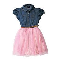 Lilt Little & Big Girls Short Sleeve Fit & Flare Dress, 3x-large (22.5) Plus , Pink