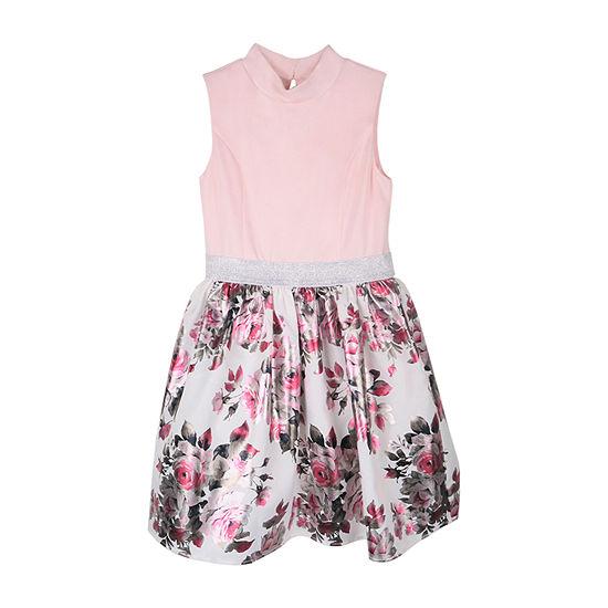 Lilt Big Girls Plus Sleeveless Fit & Flare Dress