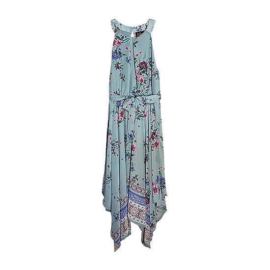 Lilt Big Girls Plus Sleeveless Floral Maxi Dress