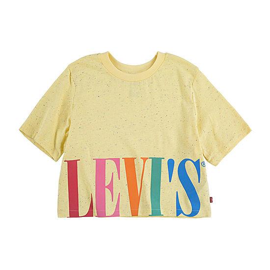 Levi's Girls Round Neck Crop Top