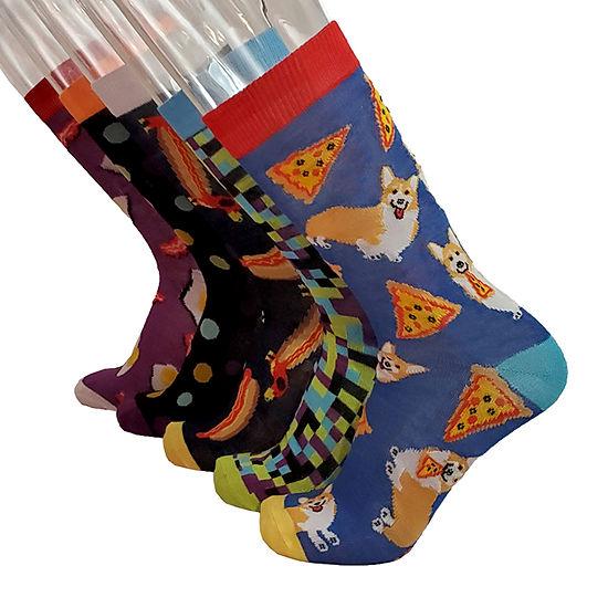 Mens 5 Pair Crew Socks