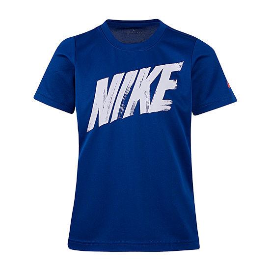 Nike Little Boys Round Neck Short Sleeve Graphic T-Shirt