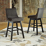 Signature Design by Ashley Tallenger 2-pc. Upholstered Swivel Bar Stool