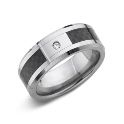 Men's Diamond-Accent Two-Tone Wedding Band