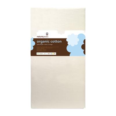 Naturepedic® Organic Cotton Lightweight Classic 2-Stage Seamless Crib Mattress