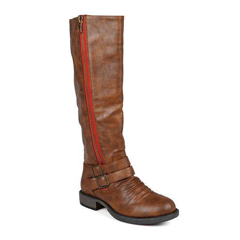 Journee Collection Lady Side-Zip Wide Calf Riding Boots