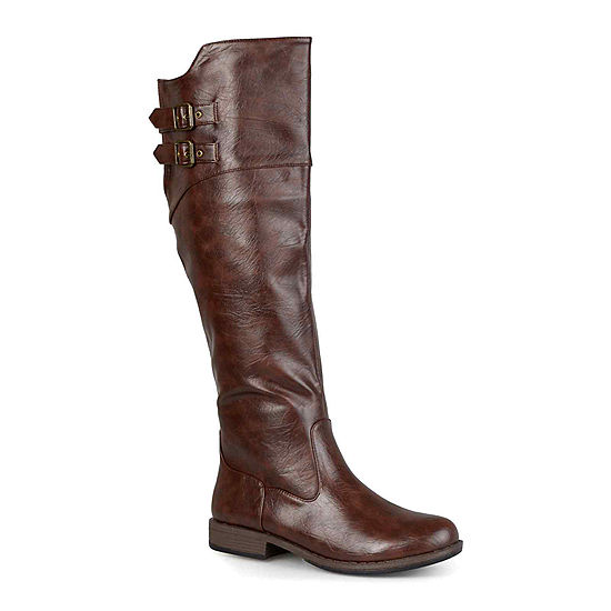 948892105e3 Journee Collection Tori Knee High Riding Boots Wide Calf JCPenney