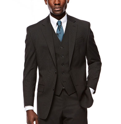 IZOD® Black Striped Suit Jacket