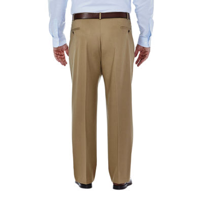 Haggar® Premium No Iron Classic-Fit Pleated Khakis - Big & Tall