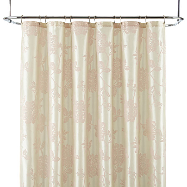 Liz Claiborne® Bijoux Flocked Floral Shower Curtain Display