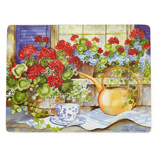 Manorcraft by Pimpernel® Geranium Tea Party Set of 4 Cork-Backed Placemats