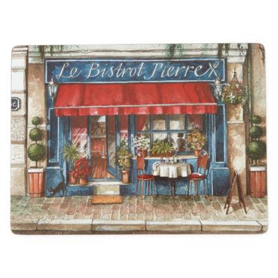 Manorcraft by Pimpernel® Café de Paris Set of 4 Cork-Backed Placemats