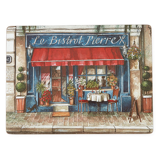 Manorcraft by Pimpernel Cafe de Paris Set of 4 Placemats