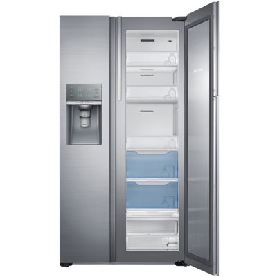 Samsung ENERGY STAR® 21.5 cu. ft. Side-by-Side Counter Depth Refrigerator with Food Showcase Design