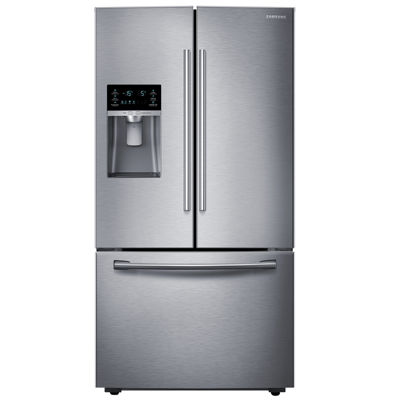 "Samsung ENERGY STAR® 23 cu. ft. 36"" Wide French Door Counter Depth Refrigerator with Water and IceDispenser"""