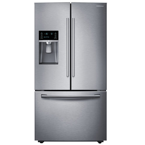 """Samsung ENERGY STAR® 23 cu. ft. 36"""" Wide French Door Counter Depth Refrigerator with Water and Ice Dispenser"""