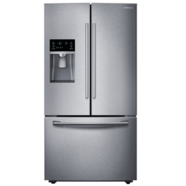 "Samsung ENERGY STAR® 23 cu. ft. 36"" Wide French Door Counter Depth Refrigerator with Water and Ice Dispenser"