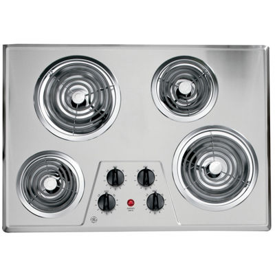 "GE® 30"" Built-In Electric Cooktop With 4 Burners"