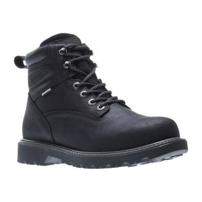 Wolverine Mens Floorhand Waterproof Water Resistant Slip Resistant Work Boots Lace-up