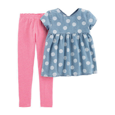 Carter's 2-pc. Polka Dot Pant Set Preschool / Big Kid Girls