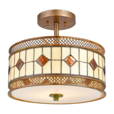 Dale Tiffany Messina Tiffany Semi Flush Mount Lighting