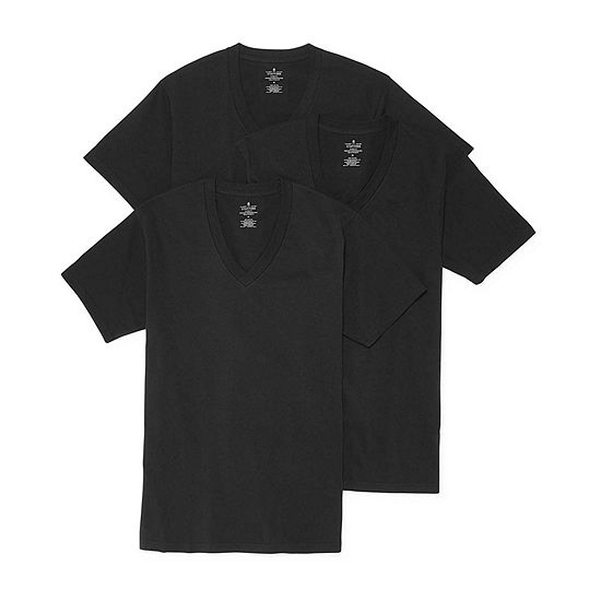 Stafford® 3-pk. Heavyweight V-Neck Tees - Big & Tall