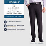 J.M. Haggar 4-Way Stretch Straight Fit Flat Front