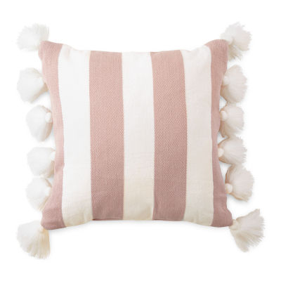 Peyton & Parker Striped Tassels Throw Pillow