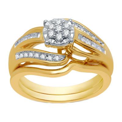 I Said Yes Womens 1/3 CT. T.W. Genuine White Diamond Engagement Ring