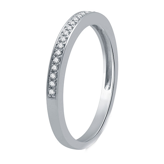 I Said Yes Womens 1/2 CT. T.W. Genuine White Diamond Platinaire Engagement Ring
